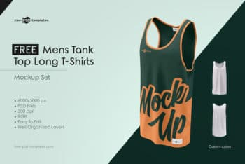 Fashionable Men's Vest Design PSD Mockup for Free
