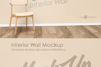 Interior Wall PSD Mockup for Showcasing Excellent Wall Designs