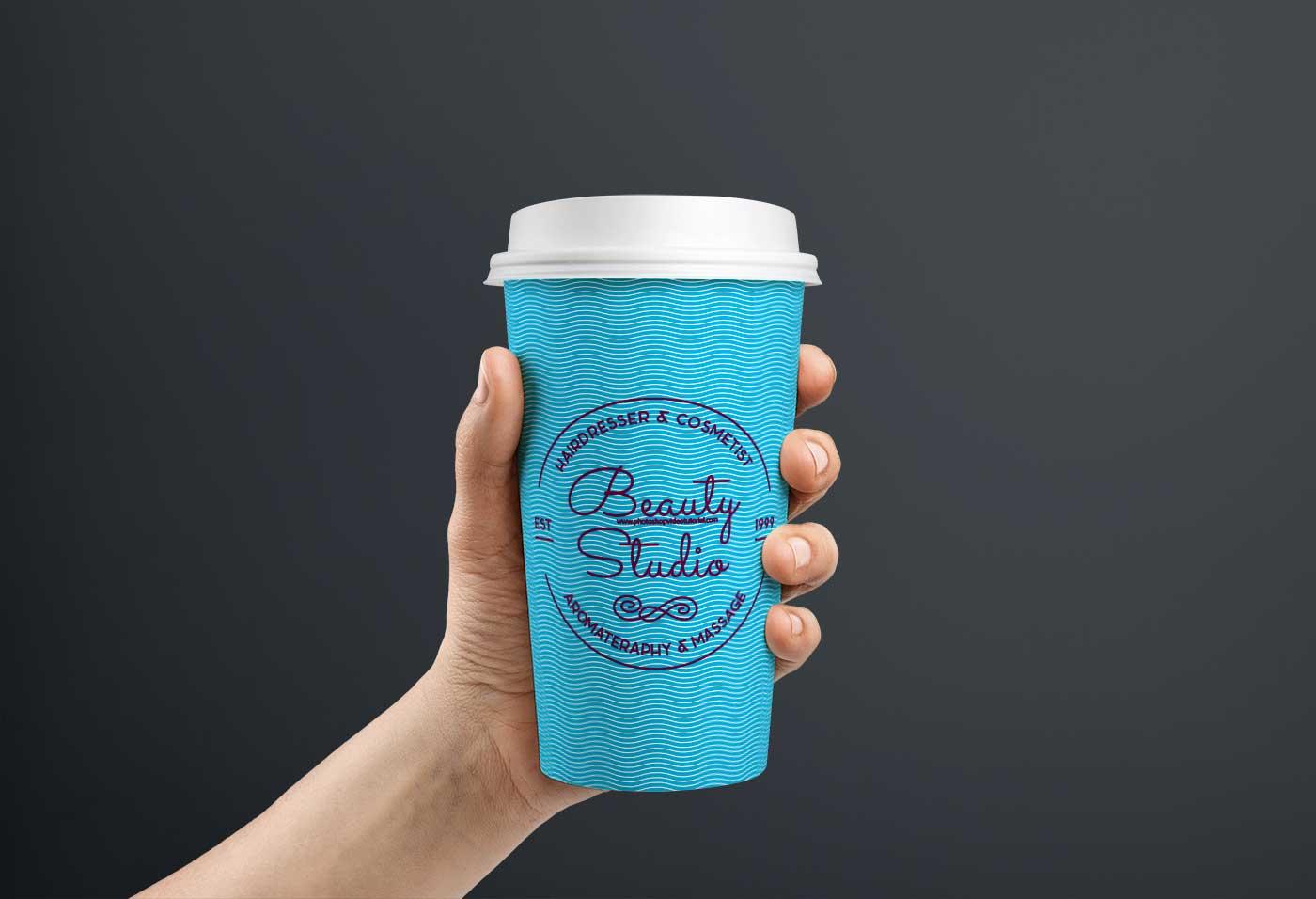Free Coffee Can PSD Mockup