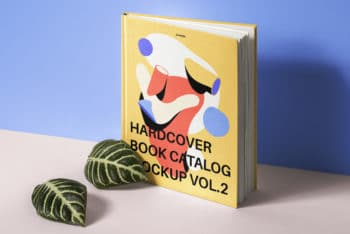Hardcover Book Catalog PSD Mockup for Free