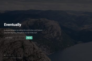 Download Eventually- Launching Soon HTML Template