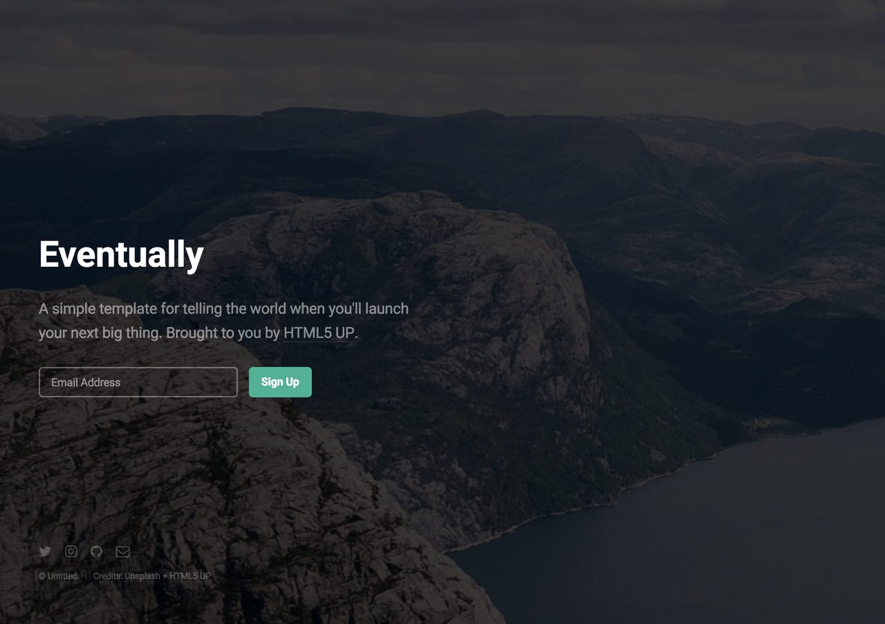 Eventually- launching soon HTML template