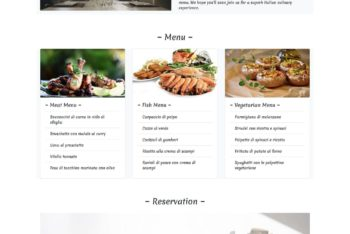 Download Ristorante – Restaurant One Page HTML Template