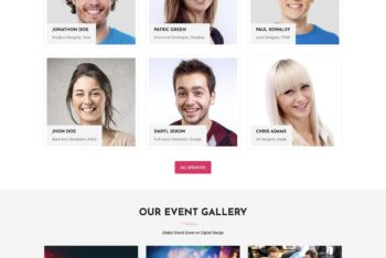Grand – Event/Conference Landing Page HTML Template
