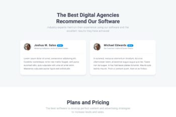 SEO Company HTML Landing Page Template (One Page)