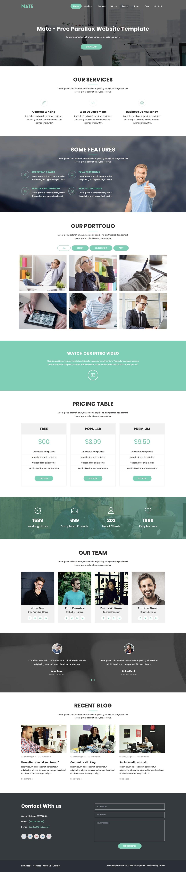 Mate - portfolio landing page HTML template