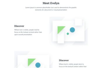 Evelyn – HTML Template for Startups (One Page)