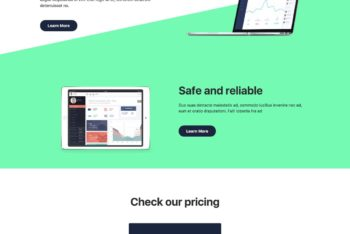 Atlas – Long Scrolling Landing Page HTML Template Download