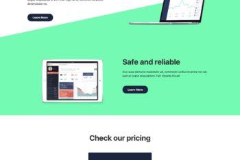 Atlas – Long Scrolling Landing Page HTML Template Download