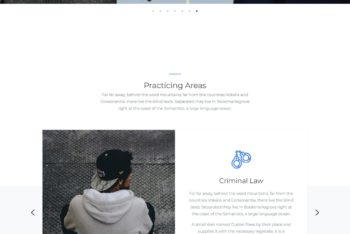 PB Law – Free One Page Law Firm HTML Template