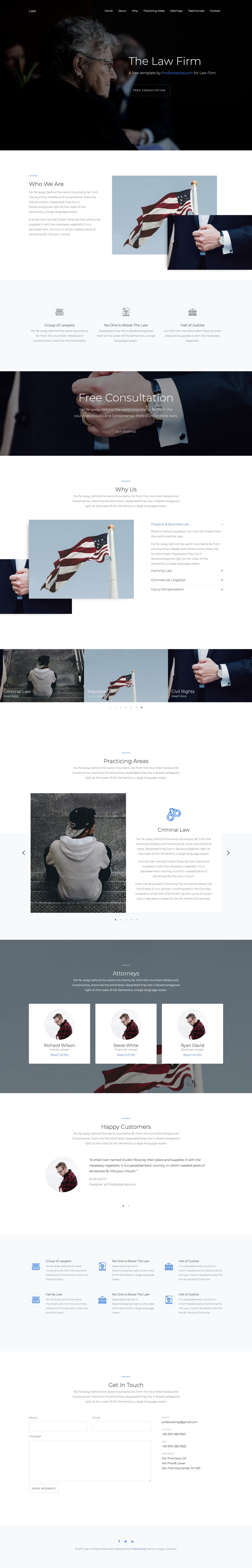 PB Law - Free One Page Law Firm HTML Template