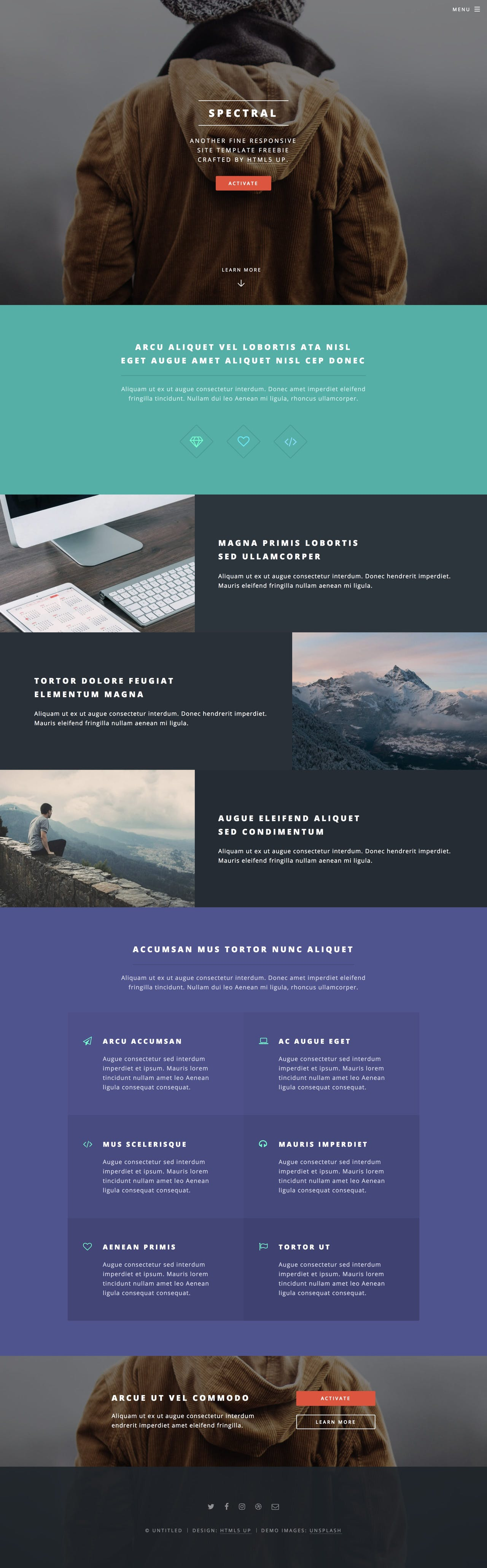 Spectral - One Page Portfolio HTML Template