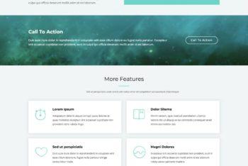 Avilon – Long Scrolling Landing Page HTML Template