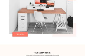 Download One Page HTML Template for Furniture Business