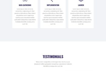 Portfolio Landing Page HTML Template Download (One page)