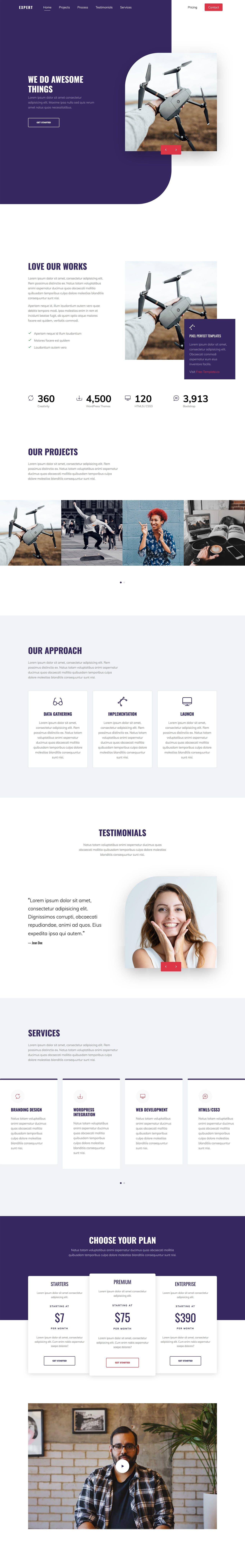 Portfolio landing page HTML template