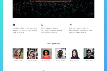 Landing Page HTML Template for a Conference or Event