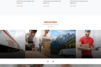 Landing Page HTML Template for Logistics Companies (One page)