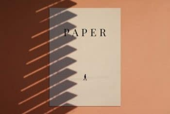 Paper Mockup – A Set of 2 PSD Files Available with High-resolution Shadows & Effects