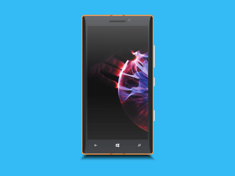 Window Phone Adobe XD Mockup