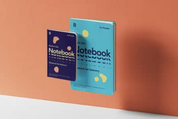 Colorful Notebook Set PSD mockup for Free