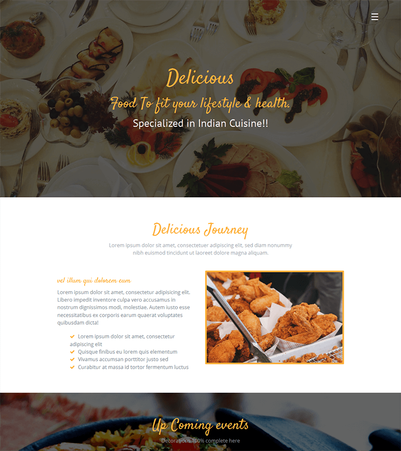 Delicious - Free Restaurant HTML Template