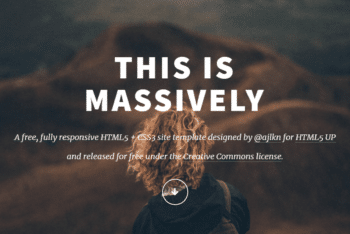 Massively – Responsive HTML Website Template for Free