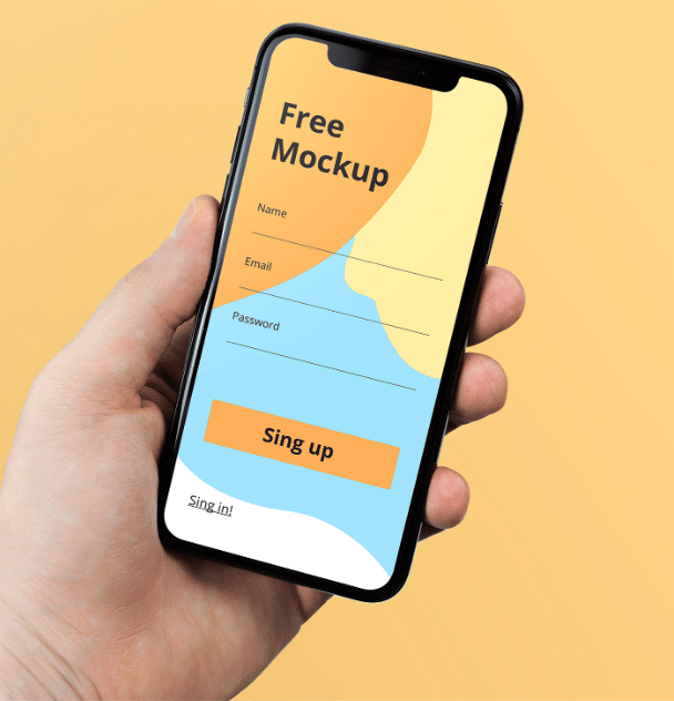 free photorealistic iphone x psd mockup template