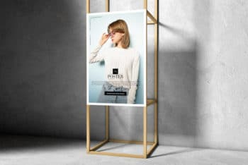 Wooden Frame Poster PSD Mockup for Free