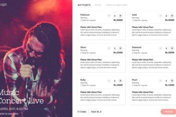 Stage – Event Ticket Selling HTML Template