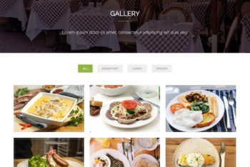 Download Touché – Restaurant One Page HTML Template for Free