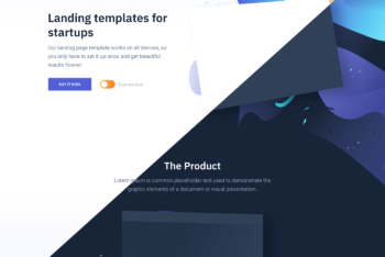 Switch – Responsive Landing Page Template Available in Dark & Light Modes