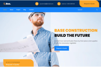 Bee – Free Construction Agency Website Template Download