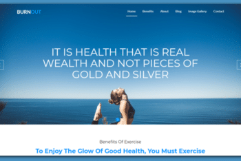 Burnout – Free Fitness Website Template Download