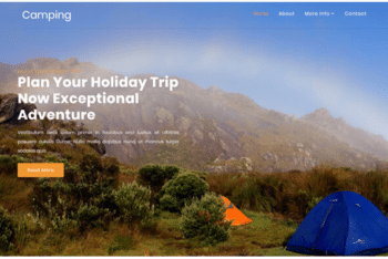 Download Camping – Free Travel Agency Website Template