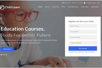Child Learn – Free Education Website Template Download