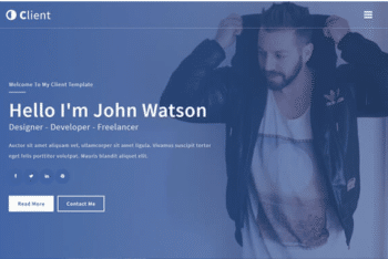 Client – Free Personal Portfolio Website Template