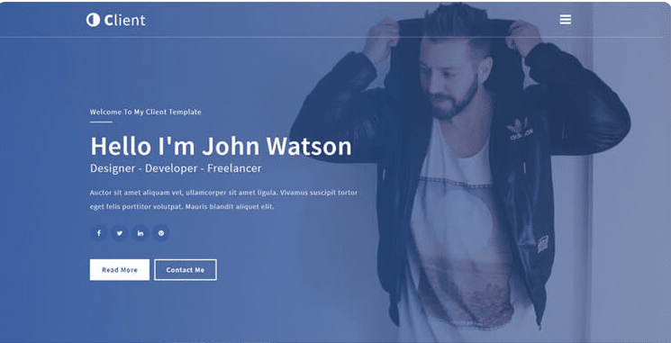Client - free personal portfolio website template