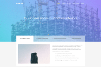 Complex – Free Bootstrap Construction Template Download