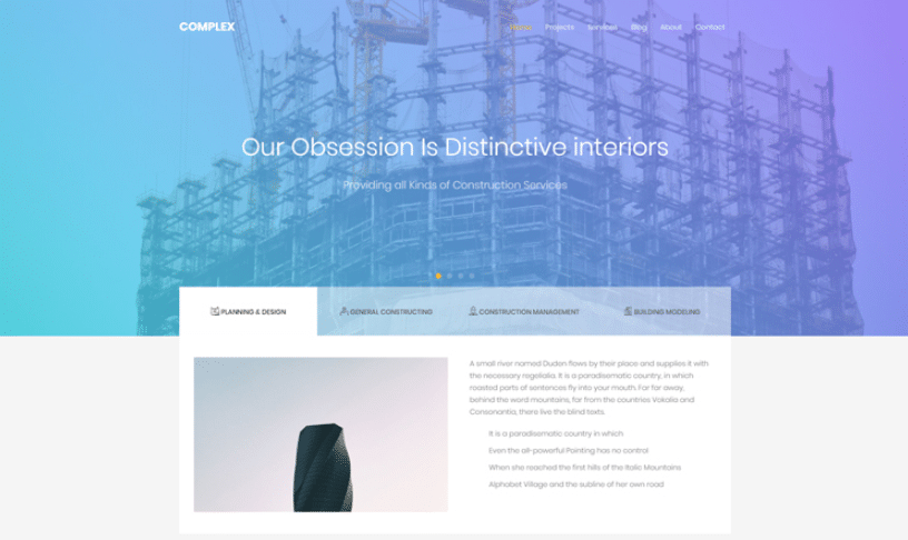 Complex - free bootstrap construction template