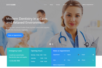 Dentacare – Free Dental Website Template Download