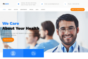 Download DrCare – Free Medical Website Template