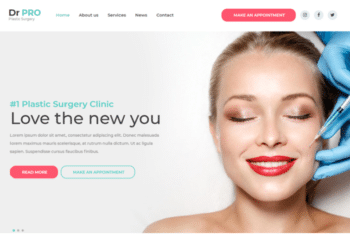 DrPro – Free Medical Website Template Download