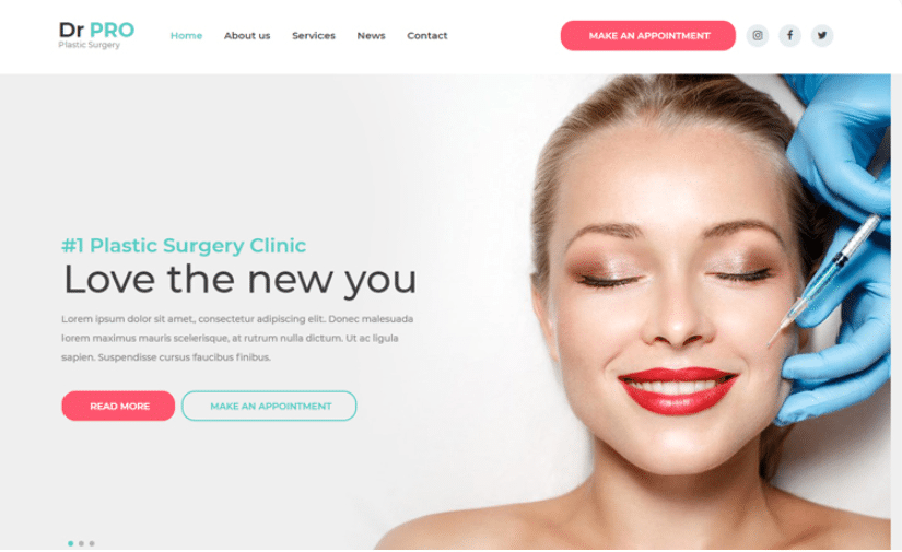 DrPro - free medical website template