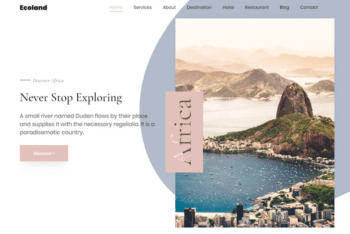 Download Ecoland – Free Travel Agency Website Template