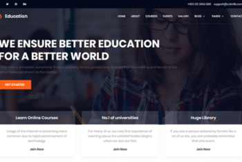 Education – Free Education Website Template Download