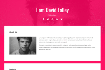 Energy – Free Portfolio Website Template Download