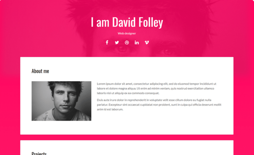 Energy - free portfolio website template