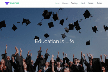Enlight – Education Website Template Download