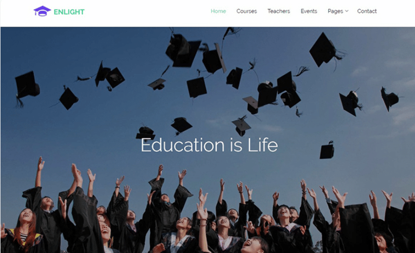 Enlight - A Responsive Education Website Template
